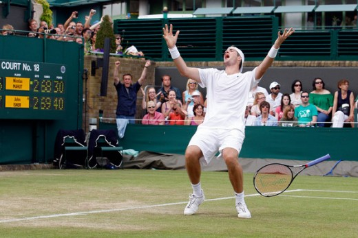 John Isner winning Wimbledon - source http://www.johnisner.com